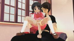 1boy 1girl 3d age_difference anal animated animated_gif clothed_sex girl_on_top kaai_yuki loli penis ponchi tagme uncensored vocaloid rating:Explicit score:29 user:loliadicktion