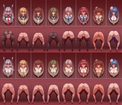 10s 6+girls absurdres alternate_breast_size anus blonde_hair blush braid breasts brown_eyes brown_hair censored from_behind fumizuki_(kantai_collection) green_eyes green_hair hair_ribbon hairband highres human_toilet kantai_collection kawakaze_(kantai_collection) large_breasts libeccio_(kantai_collection) long_hair looking_at_viewer multiple_girls murakumo_(kantai_collection) nagatsuki_(kantai_collection) nude pantyhose ponytail public_use pussy red_hair restrained ribbon satsuki_(kantai_collection) school_uniform serafuku silver_hair spread_pussy stationary_restraints thighhighs through_wall torn_clothes torn_pantyhose twintails umikaze_(kantai_collection) urakaze_(kantai_collection) very_long_hair wanaata rating:Explicit score:40 user:danbooru