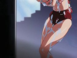 00s 1girl animated animated_gif bouncing_breasts bra breast_lift breasts buruma cleavage eiken female_focus heavy_breathing huge_breasts navel red_hair shinonome_chiharu solo underwear wet yogurt rating:Questionable score:66 user:lordroticiv
