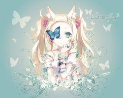 animal_ears butterfly dress fox_ears h2so4 杨有
