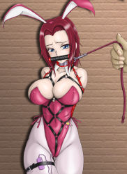00s 1girl amiba00 animal_ears armbinder bare_shoulders bdsm bit_gag bondage bound breasts buckle bunny_ears bunny_girl bunnysuit cleavage code_geass collar crotch_rope curvy female gag gagged harness huge_breasts kallen_stadtfeld large_breasts leash legs looking_at_viewer pantyhose red_hair shibari shibari_over_clothes short_hair slave solo vibrator rating:Explicit score:68 user:danbooru