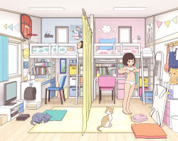 1boy 1girl age_difference backpack bag barefoot bedroom black_hair breasts brother_and_sister dressing feet kiyo_(kyokyo1220) lingerie loaded_interior loli original randoseru shota siblings small_breasts tagme underwear rating:Questionable score:10 user:camemberry