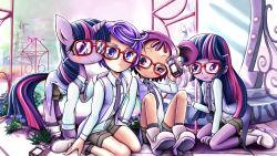 highres kenzaki_makoto my_little_pony ojamajo_doremi pretty_cure segawa_onpu skyshek twilight_sparkle