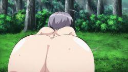 1girl animated animated_gif ass ass_focus butt_crack female_focus from_behind grey_hair huge_ass oretachi_ni_tsubasa_wa_nai short_hair solo wide_hips yamashina_miyako rating:Questionable score:15 user:lkuroi