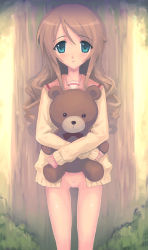 00s 1girl aqua_eyes brown_hair byakudan_kagome censored long_hair oshibaru pussy quadrastate solo strawberry_panic! stuffed_animal stuffed_toy teddy_bear rating:Explicit score:16 user:danbooru