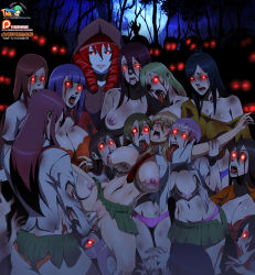 6+girls anilingus blood bra breast_grab breast_sucking cyberunique demon_girl drooling futa_with_female futanari glowing glowing_eyes grabbing highres hood licking long_tongue monster_girl multiple_girls open_mouth original pale_skin panties penis peril puffy_nipples rape red_eyes saliva school_uniform slit_pupils sweat tongue tongue_out torn_clothes uncensored underwear vaginal zombie rating:Explicit score:111 user:dmysta3000