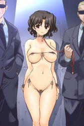 00s 1girl 2boys areola_slip areolae bikini blush breasts business_suit collar cuffs curvy erect_nipples formal g-string hips huge_breasts iruma_kamiri jpeg_artifacts large_breasts leash looking_at_viewer men_in_black micro_bikini multiple_boys necktie panties photoshop pubic_hair pubic_hair_peek pussy_peek side-tie_bikini slave solo_focus suit sunglasses swimsuit tears thong to_heart_2 underwear wide_hips yuzuhara_haruka rating:Explicit score:52 user:danbooru