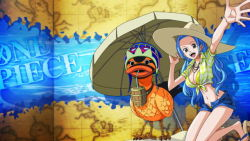 blue_hair breasts duck hat looking_at_viewer nefertari_vivi one_piece tagme rating:Safe score:9 user:Ruffy16