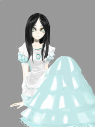 007_(pixiv295076) alice:_madness_returns alice_(wonderland) alice_in_wonderland american_mcgee's_alice bad_id dress long_hair simple_background