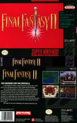 1991 90s absurdres box_art edited final_fantasy final_fantasy_iv game_console highres nintendo official_art photoshop rotated scan square_enix super_nintendo sword weapon