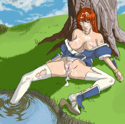 aftersex bad_end beaten beating blood broken_rape_victim bruise cum cum_on_body cum_on_pussy cum_on_upper_body dead_or_alive defeated facial helpless injury kasumi_(doa) nipples pubic_hair pussy rape tecmo thighhighs torn_clothes uncensored unconscious rating:Explicit score:68 user:bobsusedgimmick