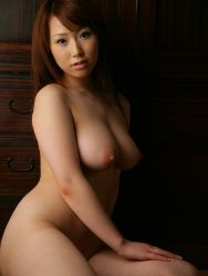 1girl areolae breasts brown_hair curvy head_tilt hip_focus huge_nipples japanese_(nationality) large_areolae large_breasts long_hair nude photo plump pose sayama_ai sitting solo thick_thighs thighs veins veiny_breasts wide_hips rating:Explicit score:17 user:m1n71