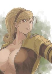 1girl blonde_hair breasts cleavage king_of_fighters large_breasts lien_neville snk tagme
