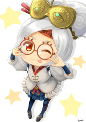 child glasses purah the_legend_of_zelda the_legend_of_zelda:_breath_of_the_wild white_hair