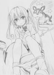 1girl animal cellphone collar dog highres leash long_hair marron_(to_love-ru) monochrome nana_asta_deviluke official_art panties panties_around_ankles panty_pull phone school_uniform shirt sitting skirt slippers socks solo tail thought_bubble to_love-ru toilet toilet_paper toilet_use twintails underwear yabuki_kentarou rating:Questionable score:19 user:danbooru