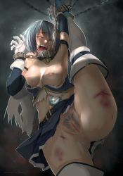 10s 1girl abuse anus bdsm beaten blood blue_hair bondage bound breasts bruise chains cuffs eyes_closed hews_hack injury mahou_shoujo_madoka_magica miki_sayaka nipples no_bra no_panties open_mouth pubic_hair pussy restrained saliva screaming slave solo soul_gem teeth thighhighs torn_clothes torture uncensored rating:Explicit score:103 user:danbooru