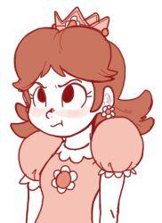 1girl blush earrings outta_sync princess_daisy super_mario_bros. rating:Safe score:10 user:Juni221