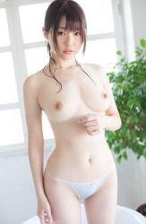 1girl asian highres japanese_(nationality) nipples panties photo solo tagme underwear rating:Explicit score:8 user:lolianon2