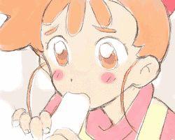 1girl animated brown_eyes brown_hair fellatio haruno_kasumi kasumin loli lowres oral penis rating:Explicit score:7 user:jameskb1