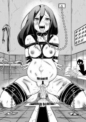 1girl ahegao arms_behind_back bangs bar_censor barcode_tattoo barefoot bdsm bondage bound_wrists breasts broken_rape_victim censored chains collar crotch_rope crying_with_eyes_open cum cum_in_mouth cuts dildo double_v drooling empty_eyes eudetenis fate/grand_order fate_(series) female glasses greyscale helpless hibike!_euphonium highres indoors injury lactation long_hair minigirl monochrome mutsu_(kantai_collection) mutsu_(snail) nipple_piercing nipples nude oda_nobunaga_(fate) orgasm piercing pregnant pussy pussy_juice pussy_juice_puddle restrained sex_toy slave smol_nozomi symbol-shaped_pupils tally tanaka_asuka tattoo tears third-party_edit tongue tongue_out v rating:Explicit score:20 user:Bripip