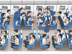 6+boys 6+girls brown_hair child from_above kiyo_(kyokyo1220) multiple_boys multiple_girls panties pleated_skirt school_uniform skirt underwear uniform white_panties rating:Safe score:11 user:Gaudy