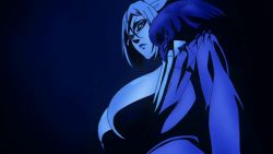 10s 1girl animated animated_gif bird bouncing_breasts breasts brown_eyes cleavage crow female_focus glasses grey_hair huge_breasts large_breasts lipstick long_hair makeup no_bra open_mouth prison_school school_uniform screencap shiraki_meiko silver_hair solo uniform upper_body rating:Questionable score:28 user:gyn13