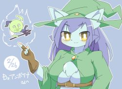 artist_request borrowed_character cat furry hat purple_hair witch_hat yellow_eyes