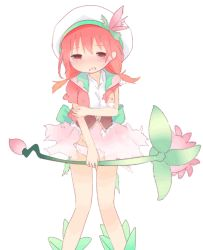 1girl animated animated_gif blush empty_eyes female hat kuroba_u legs loli looking_at_viewer low_twintails open_mouth orange_hair panties pink_panties short_twintails simple_background solo tagme twintails underwear upper_body weapon white_background rating:Questionable score:7 user:Gaudy