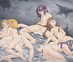 5girls aftersex anus ass barefoot blonde_hair blush breasts broken_rape_victim brown_hair bukkake censored collarbone cum cum_in_mouth cum_in_pussy cum_on_ass cum_on_body cum_on_floor cum_on_hair cum_on_lower_body cum_on_upper_body cum_pool cumdrip dungeon empty_eyes eyes_closed facial feet female loli long_hair lying lying_on_person multiple_girls navel nipples nude on_back on_floor on_side open_mouth original passed_out purple_hair pussy rape shima_kujira short_hair sitting small_breasts soles spread_legs toes unconscious rating:Explicit score:240 user:cloudsora