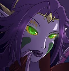 horns majora's_mask nintendo personification purple_hair purple_skin tagme the_legend_of_zelda the_legend_of_zelda:_majora's_mask