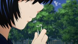 animated animated_gif black_hair close-up drooling nazo_no_kanojo_x saliva screencap test_tube urabe_mikoto rating:Safe score:2 user:ignoremoi
