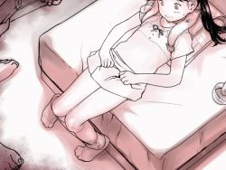 1girl 3boys animated animated_gif backpack bag bed black_hair bow crime_prevention_buzzer dppg flat_chest greyscale hitachi_magic_wand legs lifted_by_self loli long_hair looking_at_viewer lying monochrome multiple_boys no_panties on_back on_bed original pussy randoseru sex_toy short_sleeves skirt skirt_lift solo_focus twintails uncensored vibrator rating:Explicit score:35 user:Domestic_Importer
