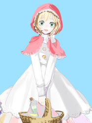 007_(pixiv295076) 1girl axis_powers_hetalia bad_id basket belgium_(hetalia) blonde_hair blue_eyes dress female short_hair simple_background solo