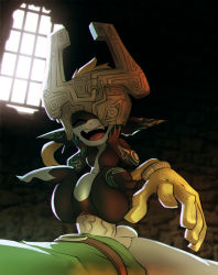 00s 1boy 1girl bigdad clitoris clothed_male_nude_female fangs girl_on_top happy_sex helmet hetero imp link midna one_eye_covered open_mouth penis pointy_ears pussy sex size_difference small_breasts smile stomach_bulge teeth the_legend_of_zelda the_legend_of_zelda:_twilight_princess vaginal