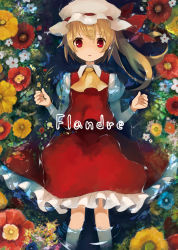 1girl cover cover_page female flandre_scarlet flower rin_(artist) rin_(royal) solo touhou water