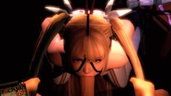 3d animated animated_gif bdsm blonde_hair bondage bound dead_or_alive hair_pull irrumatio marie_rose oral panties penis pockyin pov source_filmmaker twintails uncensored underwear rating:Explicit score:84 user:fapsam