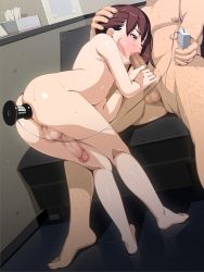 2boys anal anal_object_insertion androgynous ass barefoot bed censored charm_point fellatio multiple_boys nude object_insertion oral penis sex sweat vibrator yaoi rating:Explicit score:111 user:Cane751