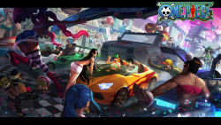 boa_hancock bon_clay brook car franky ground_vehicle jimbei monkey_d_luffy motor_vehicle multiple_boys multiple_girls nami_(one_piece) nefertari_vivi nico_robin one_piece perona roronoa_zoro sanji tony_tony_chopper usopp vehicle rating:Safe score:9 user:nrt
