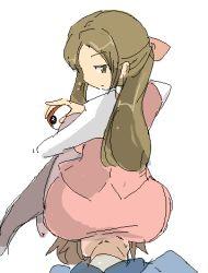 10s brown_eyes brown_hair clerk_(pokemon) femdom looking_back lowres npc_trainer oekaki office_lady pantyhose pokemon pokemon_(game) pokemon_bw sitting sitting_on_face sitting_on_person touya_(pokemon) rating:Questionable score:67 user:ModelE