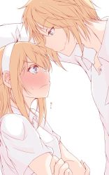 1girl blonde_hair couple ezreal highres league_of_legends luxanna_crownguard nakatokung