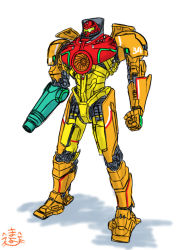 arm_cannon crossover gipsy_danger mayohi_neko mecha metroid pacific_rim samus_aran varia_suit weapon