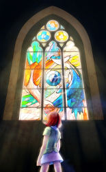 1girl highres kanon_(pokemon) latias latios pokemon stained_glass tracco