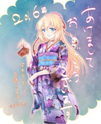 1girl blonde_hair blue_eyes collet_brunel hair_ornament japanese_clothes kimono long_hair open_mouth tales_of_(series) tales_of_symphonia