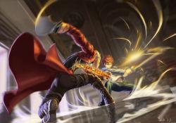 1boy 2boys archer emiya_shirou fate/stay_night fate_(series) fighting highres kanshou_&_bakuya motion_blur multiple_boys orange_hair scrap_iron sword weapon white_hair