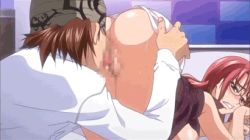 animated animated_gif cunnilingus eating_pussy glasses nosewasure oral red_head