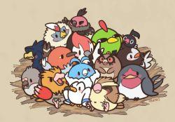 artist_name bird chatot fletchling hoothoot huiro murkrow natu nest no_humans pidgey pidove pikipek pokemon pokemon_(game) rufflet spearow starly swablu taillow vullaby wingull