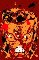 abstract highres jojo_no_kimyou_na_bouken josephsk king_crimson_(stand) no_humans solo stand_(jojo)