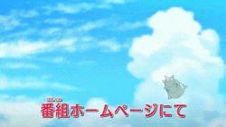 animated animated_gif battle beach charizard mega_pokemon no_humans pokemon pokemon_(anime) slowbro