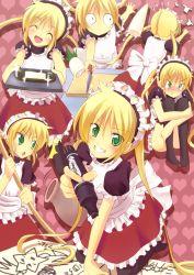 blonde_hair daikon green_eyes hayate_no_gotoku! knife kotsu long_hair maid marker playstation_portable sanzen'in_nagi thighhighs twintails