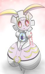 machine magiana no_humans pink_eyes pokemon red_sclera solo tagme translation_request